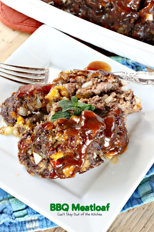 BBQ Meatloaf | Can't Stay Out of the Kitchen