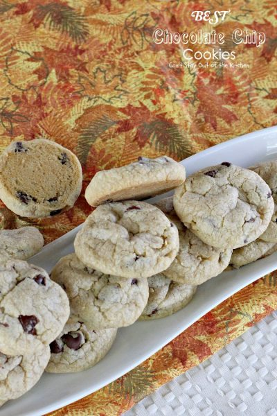 BEST Chocolate Chip Cookies | Can't Stay Out of the Kitchen | these amazing #cookies are so scrumptious you won't be able to stop eating them! #chocolate #dessert