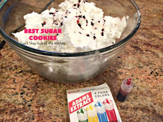 BEST Sugar Cookies! | Can't Stay Out of the Kitchen | these  #sugarcookies are divine with an amazing frosting to die for. We love making these for #holiday baking & #Christmas #cookie exchanges. Everyone gobbles them up! #dessert