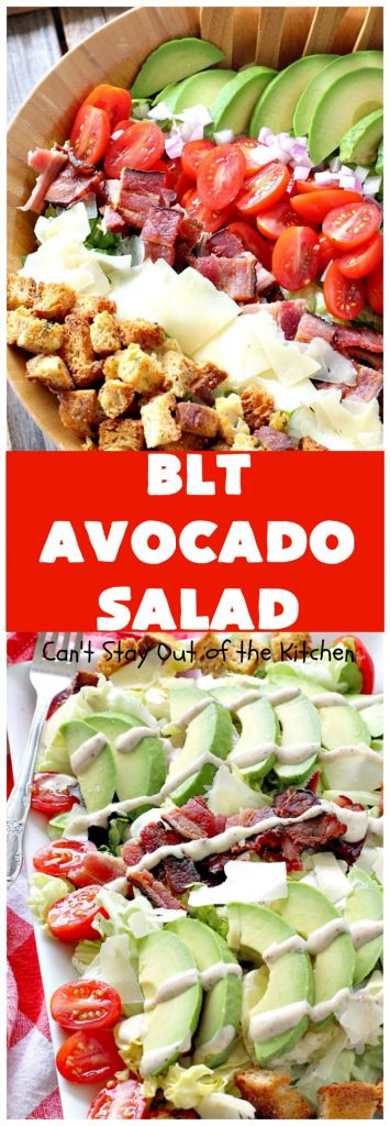 BLT Avocado Salad | Can't Stay Out of the Kitchen