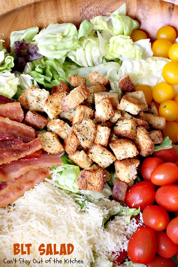 BLT Salad | Can't Stay Out of the Kitchen | spectacular #salad with a ...