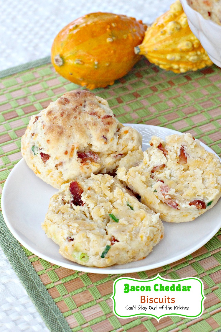 biscuit is filled with bacon and cheddar cheese making these biscuits ...