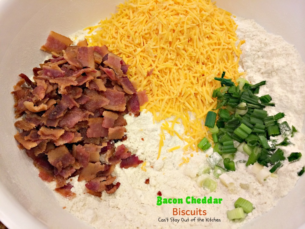 Bacon Cheddar Biscuits - Can't Stay Out of the Kitchen