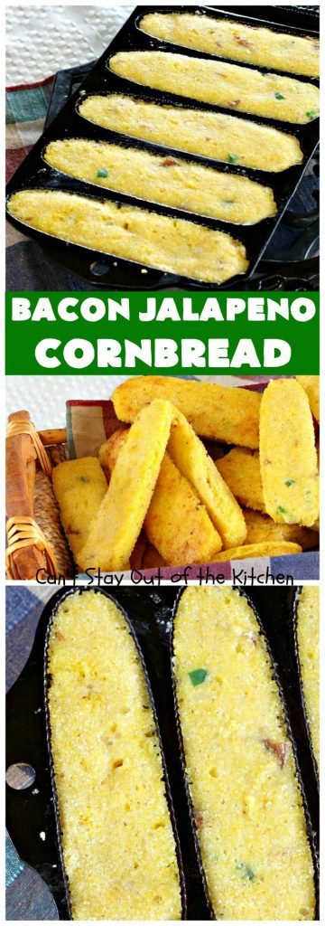 Bacon Jalapeno Cornbread | Can't Stay Out of the Kitchen
