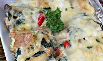 Bacon Spinach and Smoked Gouda Breakfast Casserole