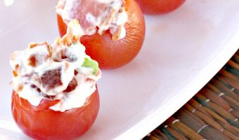 Bacon Stuffed Cherry Tomatoes