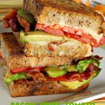 Bacon, Swiss, Tomato and Avocado Sandwiches   Can't Stay Out of the Kitchen   these monster-sized #sandwiches are hearty, filling & such satisfying comfort food. They're filled with #Bacon, #SwissCheese, #Avocados & #Tomatoes & grilled up to perfection. Great for #tailgating parties or weekend meals when you're short on time. #BaconSwissTomatoAndAvocadoSandwiches