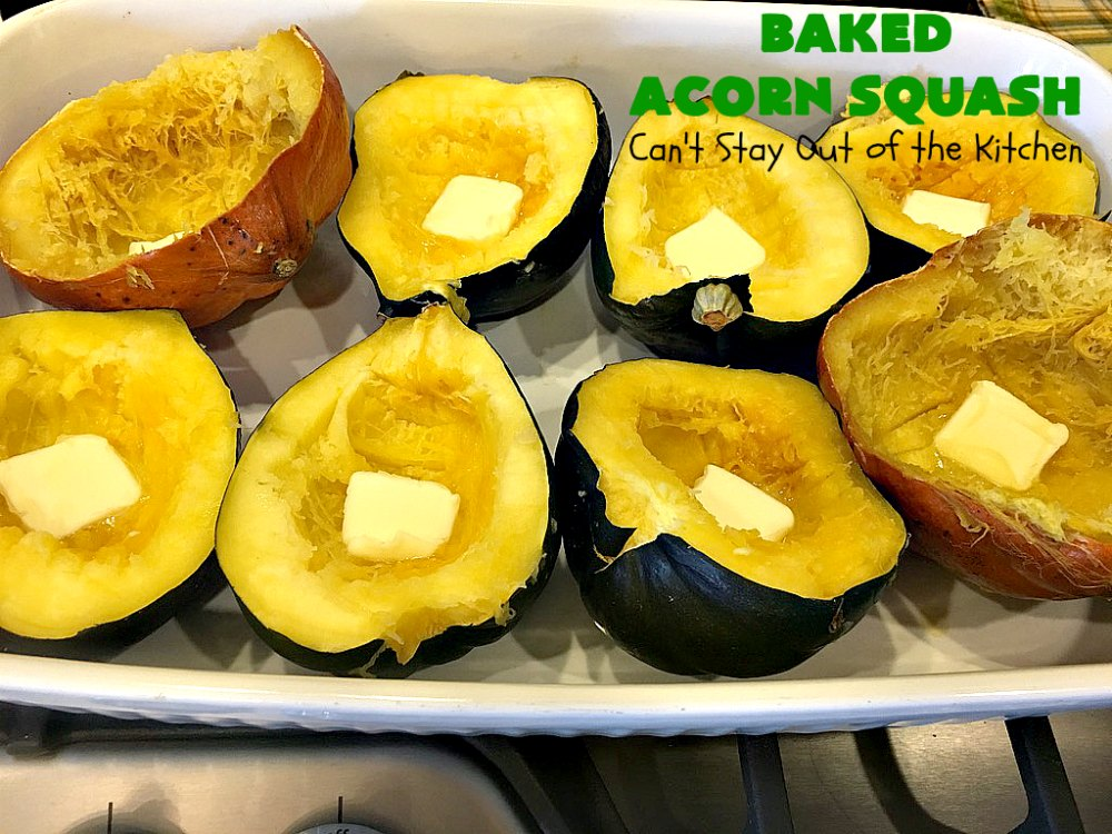 Baked Acorn Squash Can T Stay Out Of The Kitchen