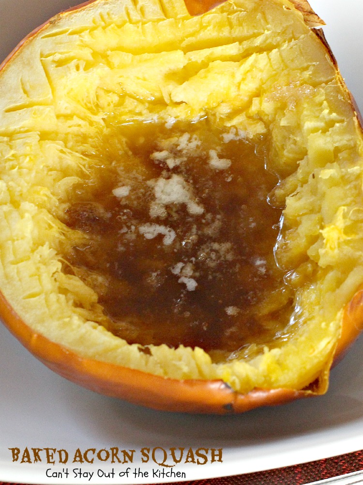 Baked Acorn Squash is so easy to make but incredibly delicious to the ...