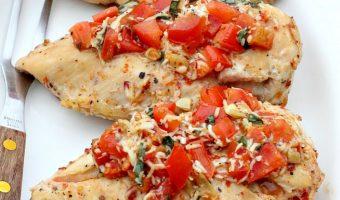 Baked Chicken Bruschetta