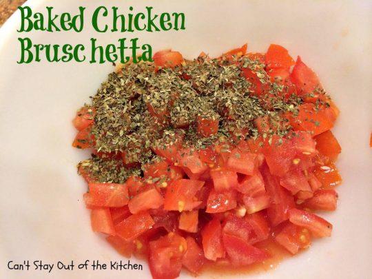 Baked Chicken Bruschetta - IMG_0331