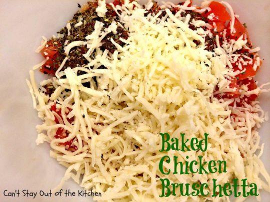 Baked Chicken Bruschetta - IMG_0333
