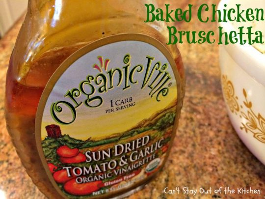 Baked Chicken Bruschetta - IMG_0334