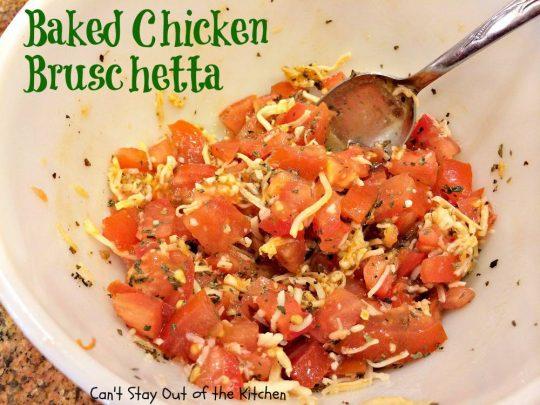 Baked Chicken Bruschetta - IMG_0335