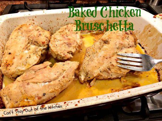 Baked Chicken Bruschetta - IMG_0337