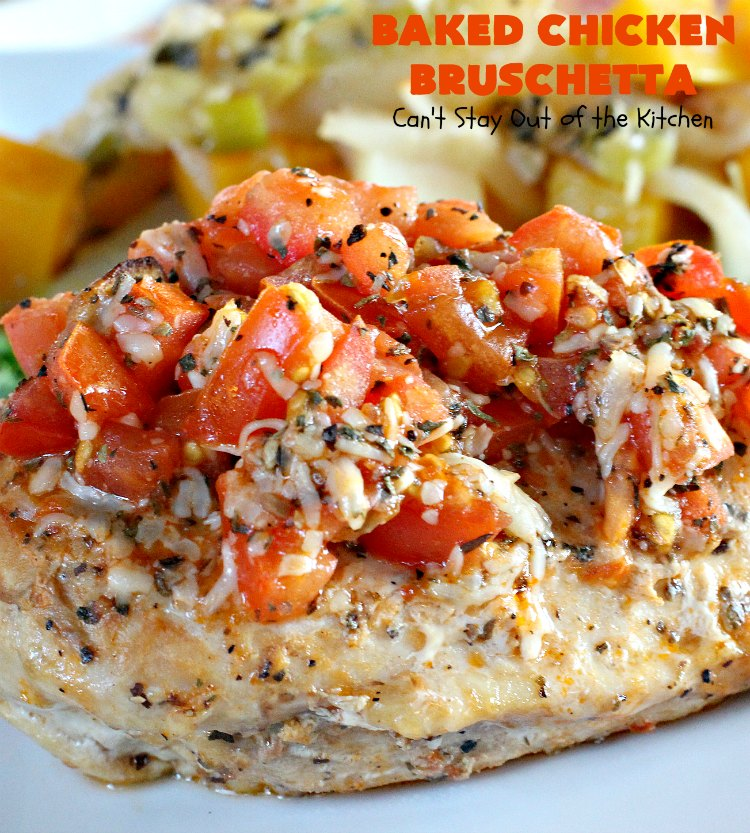 Baked Chicken Bruschetta