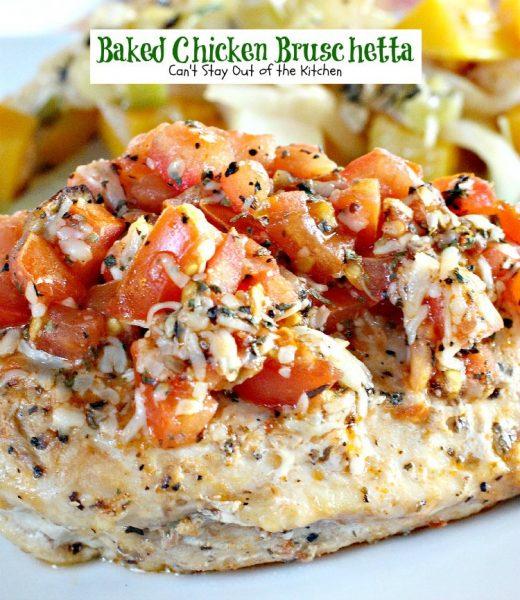 Baked Chicken Bruschetta - IMG_6675