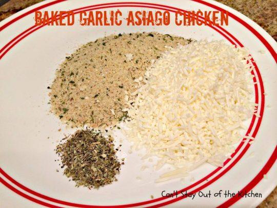 Baked Garlic Asiago Chicken - IMG_1649