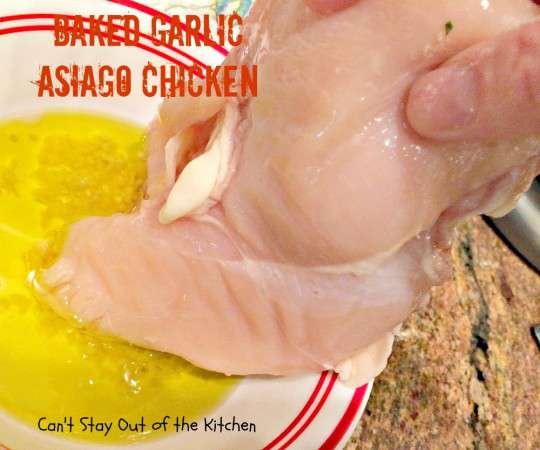 Baked Garlic Asiago Chicken - IMG_1651