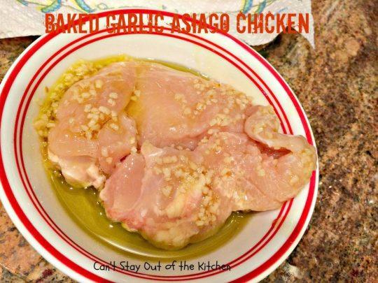 Baked Garlic Asiago Chicken - IMG_1652