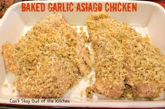 Baked Garlic Asiago Chicken - IMG_1654