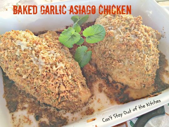 Baked Garlic Asiago Chicken - IMG_1703
