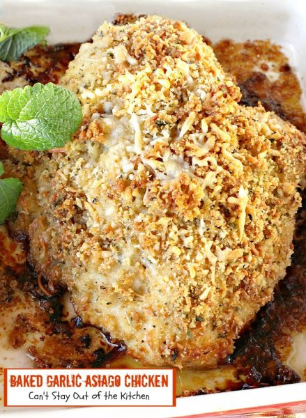 Baked Garlic Asiago Chicken - IMG_8407