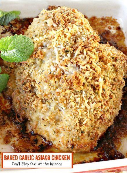 Baked Garlic Asiago Chicken - IMG_8407
