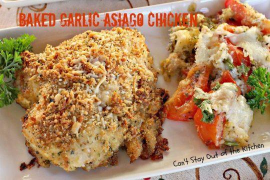 Baked Garlic Asiago Chicken - IMG_8444