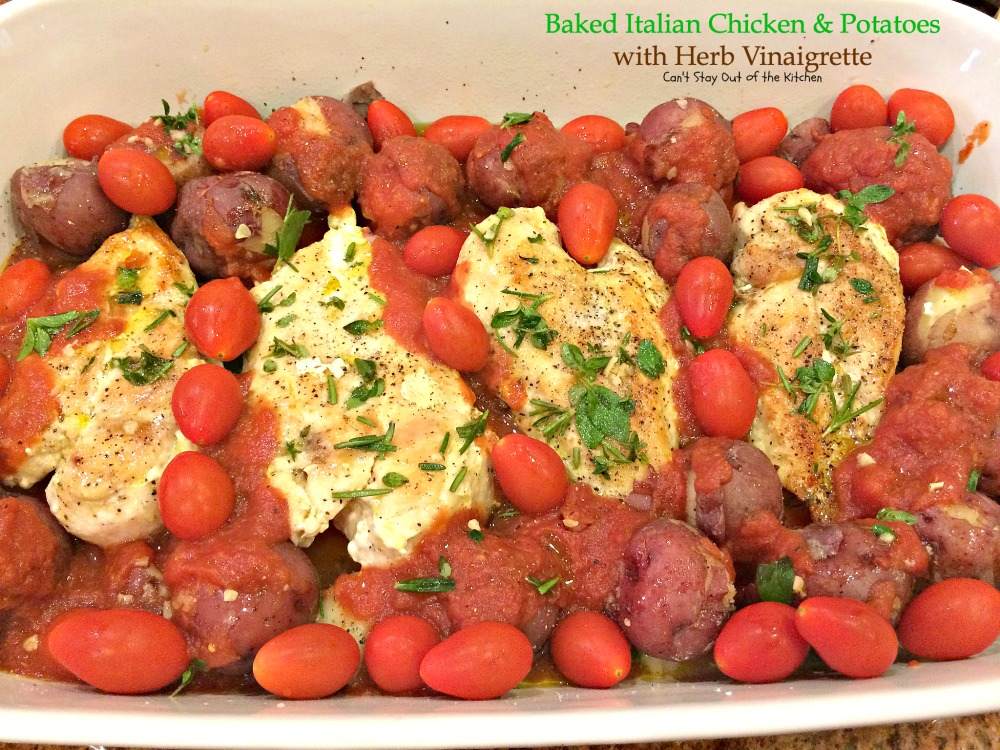 Baked Italian Chicken And Potatoes With Herb Vinaigrette Cant