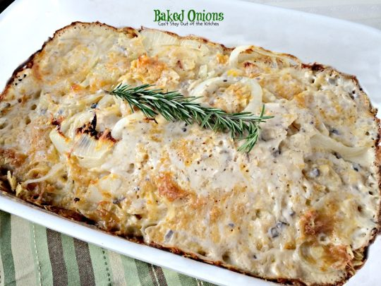 Baked Onions | Can't Stay Out of the Kitchen | you won't believe how amazing this #casserole tastes. #onions #cheese