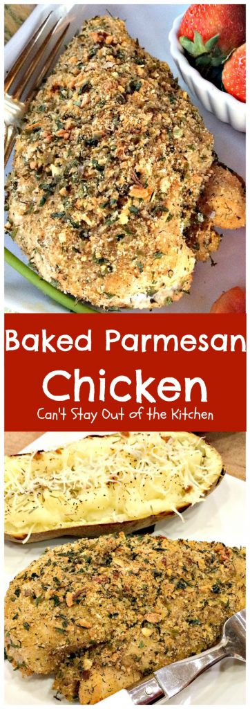 Baked Parmesan Chicken | Can't Stay Out of the Kitchen | mouthwatering #chicken entree that's perfect for any family dinner. Quick & easy. #parmesancheese