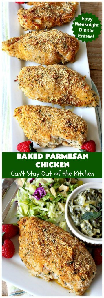 Baked Parmesan Chicken | Can't Stay Out of the Kitchen