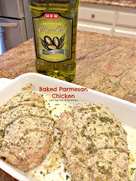 Baked Parmesan Chicken | Can't Stay Out of the Kitchen | delicious oven-baked #chicken with a #parmesan coating.