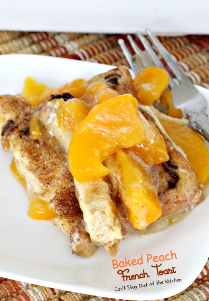 Baked Peach French Toast is an amazing breakfast casserole. When you ...