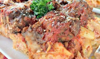 Baked Penne with Italian-Style Meatballs
