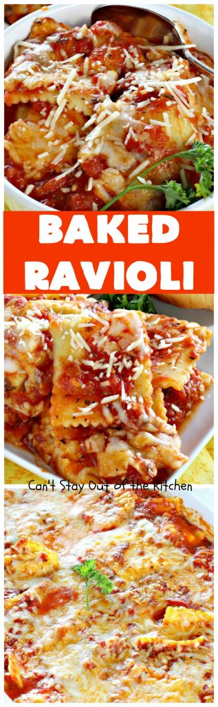 Baked Ravioli | Can't Stay Out of the Kitchen