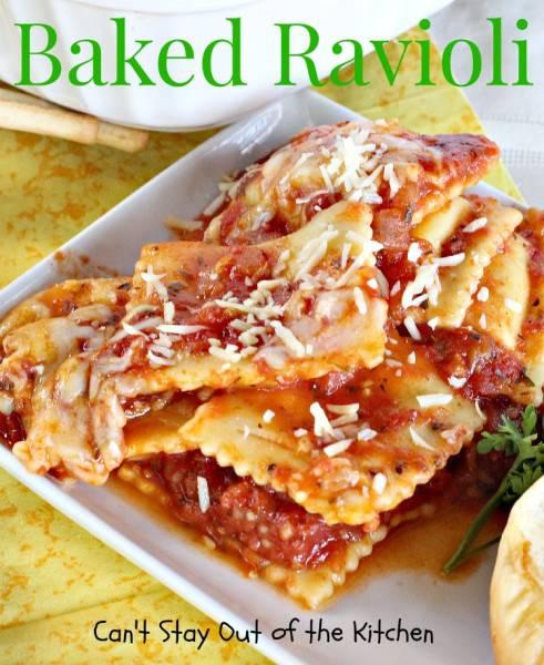 , beef, sausage, pumpkin or butternut squash ravioli. Baked Ravioli ...