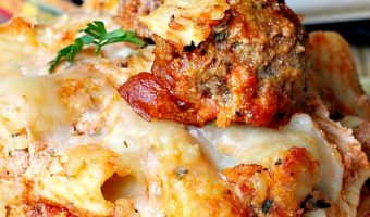 Baked Rigatoni with Homemade Melt-In-Your-Mouth Meatballs