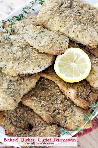 Baked Turkey Cutlet Parmesan | Can't Stay Out of the Kitchen | this fabulous #turkey recipe is so quick and easy to make, and also good with #chicken.