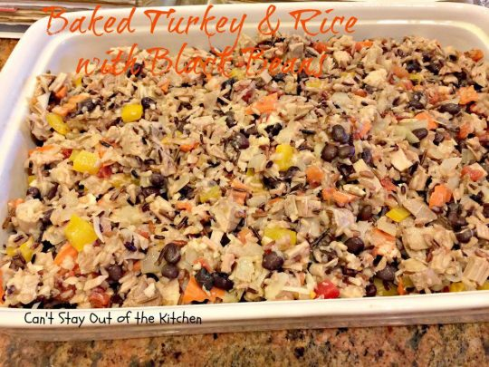 Baked Turkey and Rice with Black Beans - IMG_2243