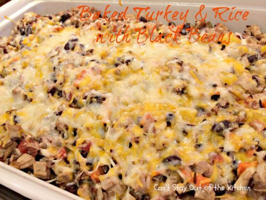 Baked Turkey and Rice with Black Beans - IMG_2247