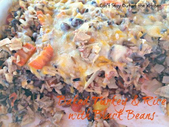 Baked Turkey and Rice with Black Beans - IMG_2272
