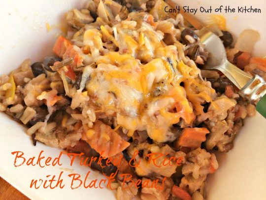 Baked Turkey and Rice with Black Beans - IMG_2282