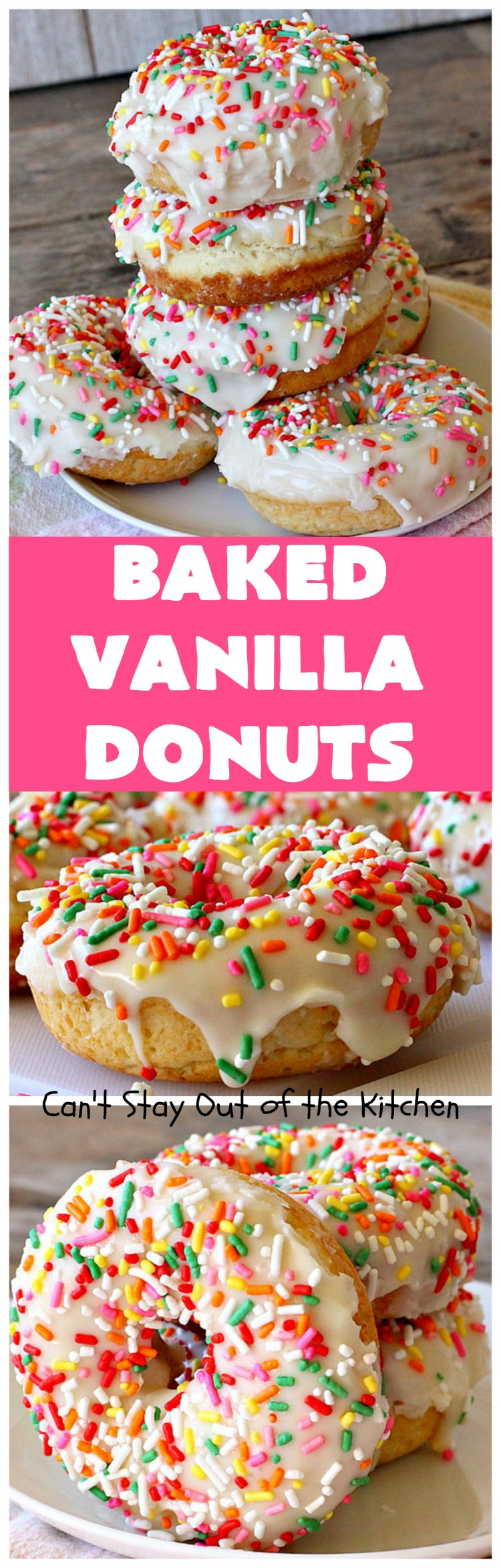 Baked Vanilla Donuts   Can't Stay Out of the Kitchen