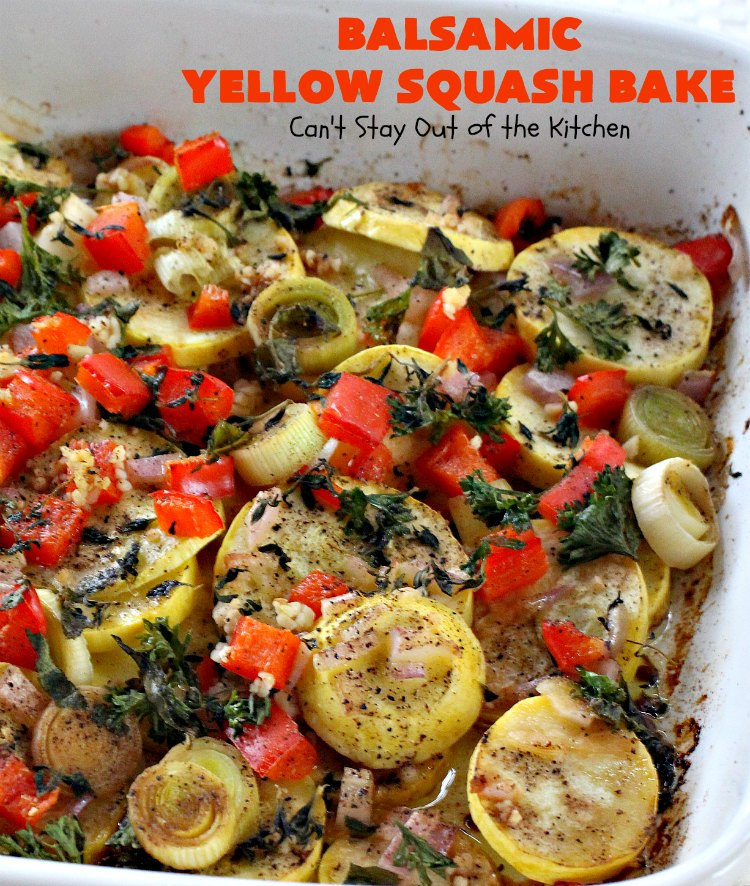 Balsamic Yellow Squash Bake