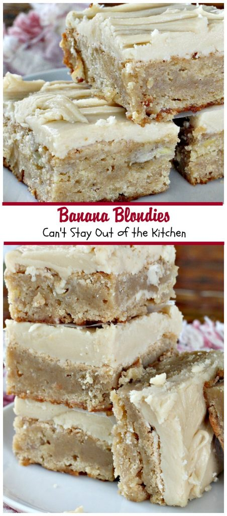 Banana Blondies | Can't Stay Out of the Kitchen