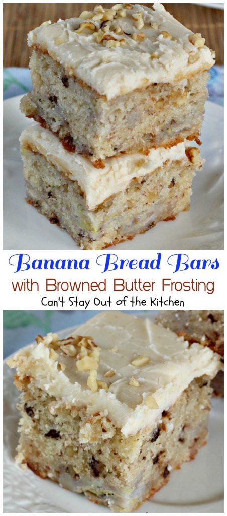 Banana Bread Bars with Browned Butter Frosting | Can't Stay Out of the Kitchen