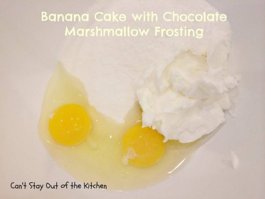 Banana Cake with Chocolate Marshmallow Frosting - IMG_6328.jpg