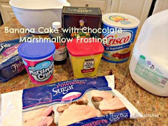 Banana Cake with Chocolate Marshmallow Frosting - IMG_6341.jpg